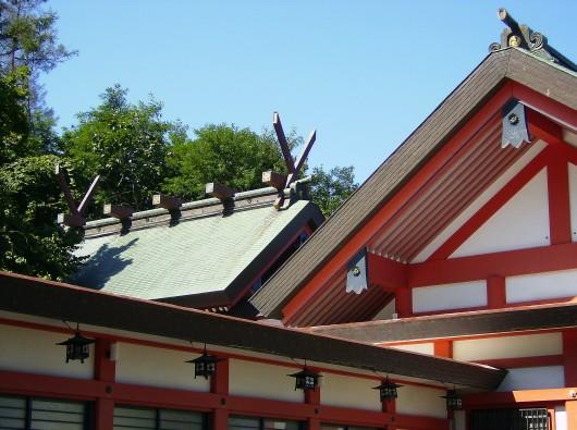 小樽住吉神社本殿屋根