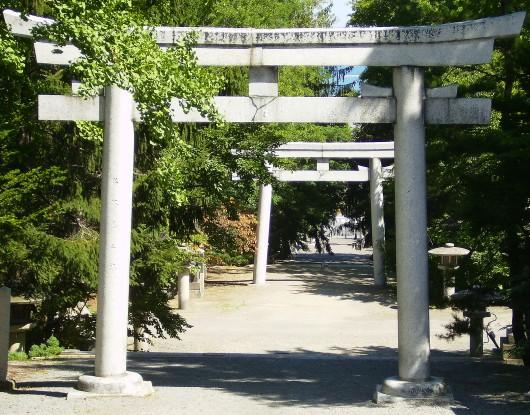 小樽住吉神社奥の鳥居