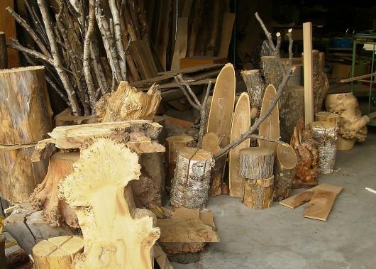 木の素材屋さん工場内2