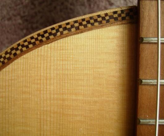 菊ギター第14号完成右肩正面アップ