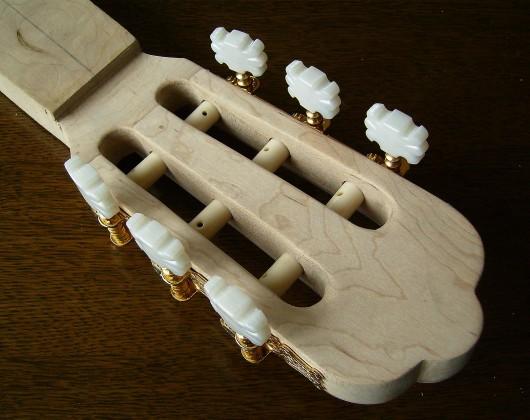 ヘッド完成ウラ 菊ギター第15号