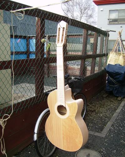 塗装準備 菊ギター第15号