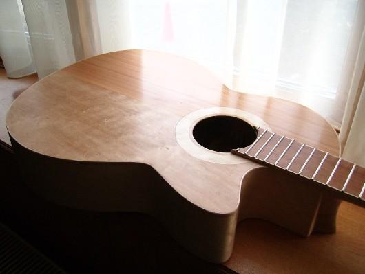 研磨終了表面斜 菊ギター第15号