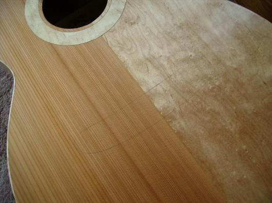 ブリッジ位置決めガイドライン 菊ギター第15号