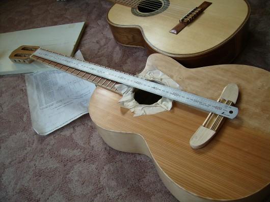 スケール調整 菊ギター第15号