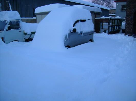 大雪車の屋根