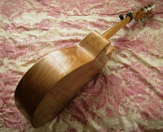 菊ギター第10号全体斜左側板