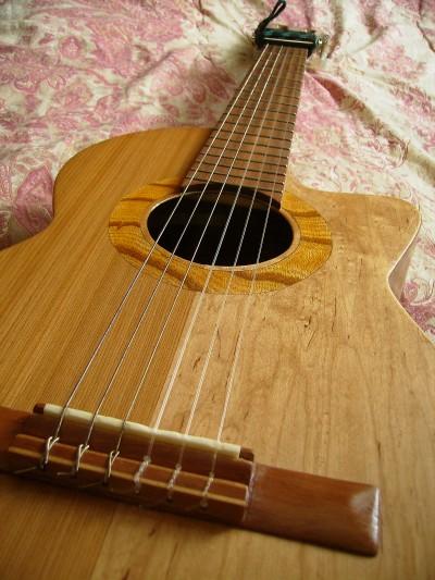 菊ギター第10号表板下からアップやや斜