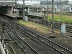 駐車場から眺める地鉄富山駅構内