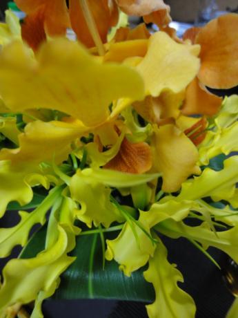 テーブルのお花!