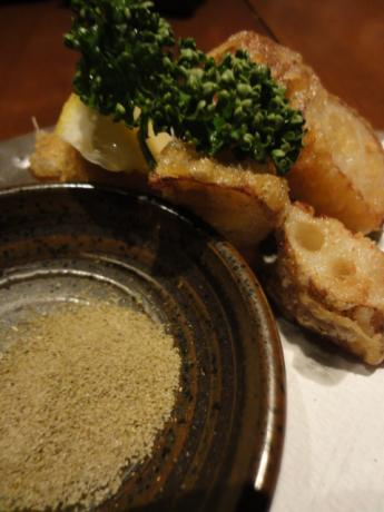 れんこんの天ぷら