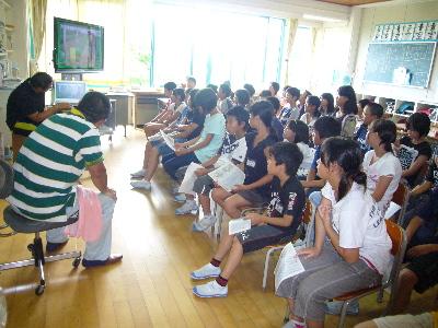 小学校で自然農法発表