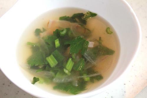 20100609スープセロリでベーコンとたまねぎのスープ