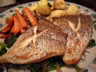 鯛のオーブン焼き091229