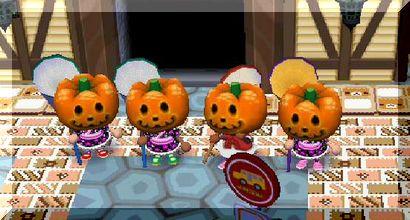 かぼちゃの整列