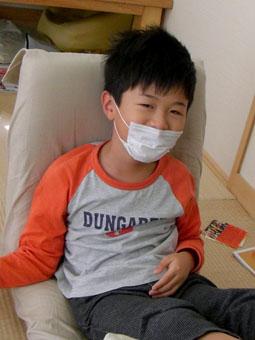 マスクをした圭吾ちゃん