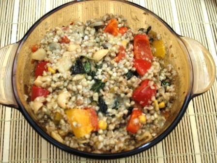 パプリカ蕎麦の実リゾット1