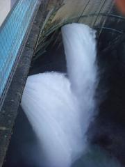 ダム上から