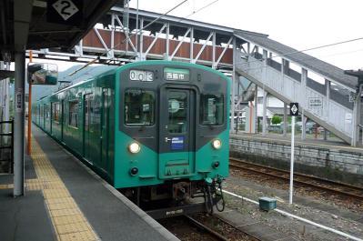 西脇市へ2010.07.31- 加古川線ー西脇駅にて01