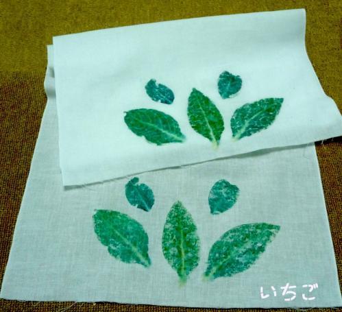 green-green BAZAAR」2010.7.25-04藍染め