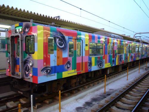 西脇市へ2010.07.31- 加古川線~横尾さんのラッピング電車04