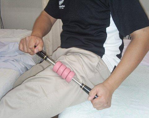 大腿部の外側を四つ玉で治療