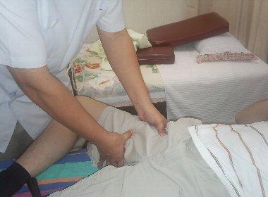 圧痛部位の確認
