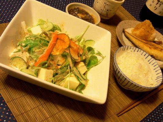 豆腐サラダ3