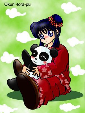 パンダさんと女の子
