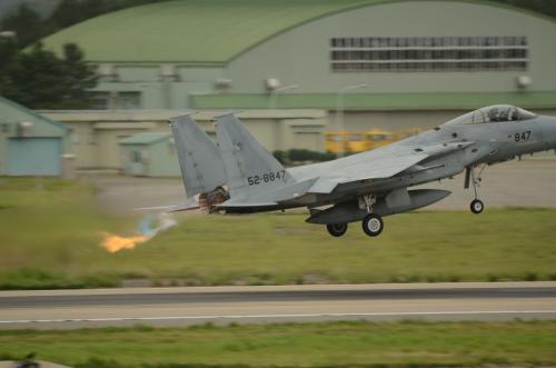 F-15 アフターバーナー離陸