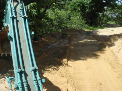 栗山にて道造り