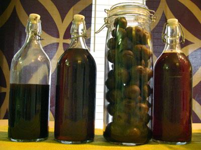 梅酒とヤマモモ酒