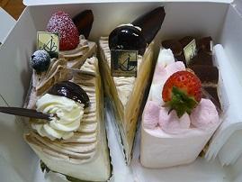 ケーキのプレゼント