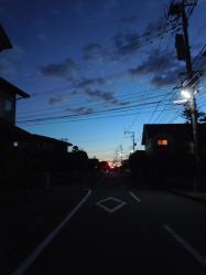 夜明け前の風景