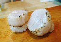 生ホタテ貝柱にぎり ときわ寿司