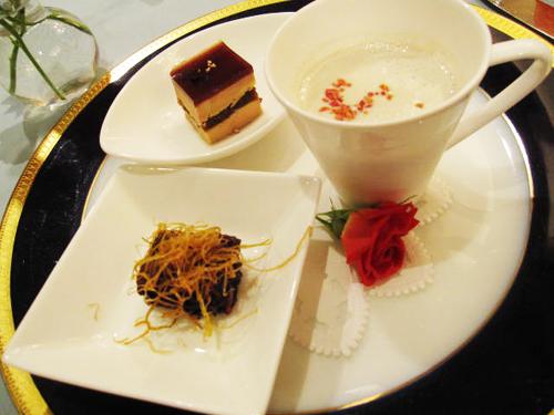 ANA KYOTO ローズルーム 本日のスープとアミューズ