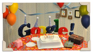 Google13周年おめでとう~♪