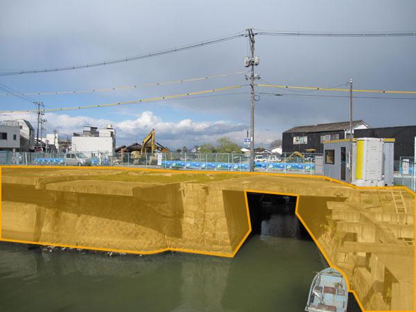 港橋北側20100329(4月4日以降撤去範囲)