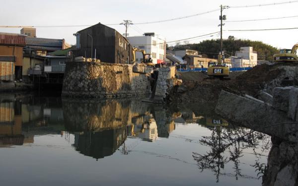港橋北側工事20100330②