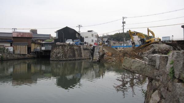 港橋北側工事20100331②-2