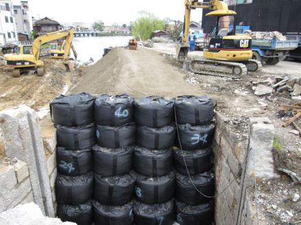 港橋北側工事20100402?-1