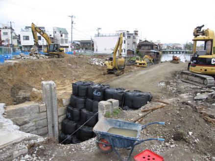 港橋北側工事20100402?-2