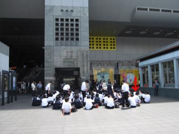 けいおん!!#4「修学旅行!」3京都駅3-5(加工・撮影地点)
