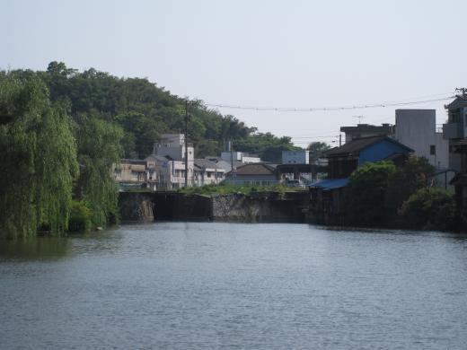 港橋上流側(遊水池方面より)2009年5月9日