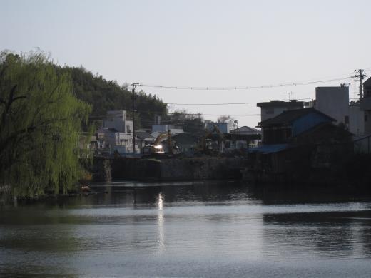 港橋上流側(遊水池方面より)2010年3月16日