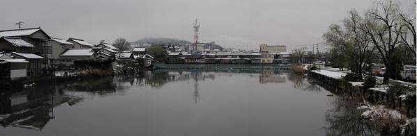 遊水池パノラマ(西→東)20100309