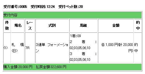 8・9札幌7R