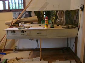 古いキッチン台