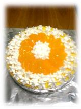 紅茶風味のオレンジムースケーキ