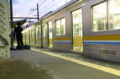 安善駅でのひとコマ
